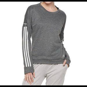 NWT Adidas Women's Response Crew Sweatshirt M Grey